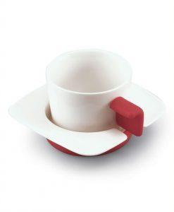 Coppia Tazze Cappuccio (bianco/rosso)