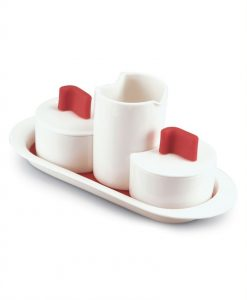 Set Prima Colazione (bianco/rosso)